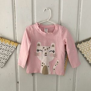 Pink French Terry Kitty Cat Pullover Sweatshirt
